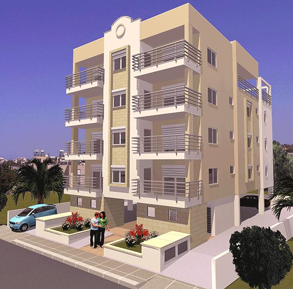Classic style apartment building by Kouroushis and Stavrou Ltd, in Limassol, Cyprus.