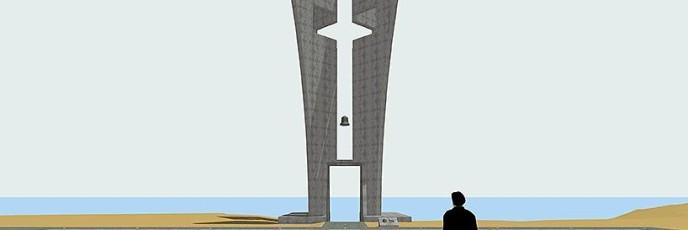 """Monument in the Naval Base """"Evangelos Florakis"""" in Mari, Cyprus."""