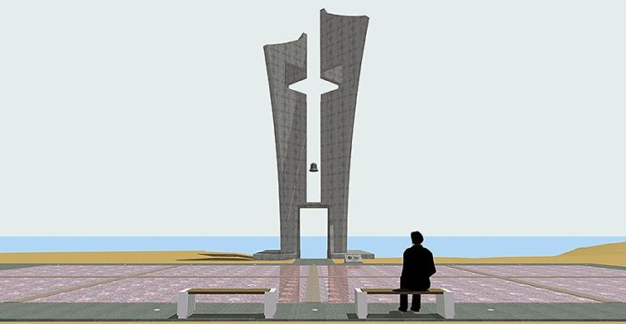 "Monument in the Naval Base ""Evangelos Florakis"" in Mari, Cyprus."